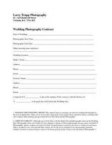 Wedding Photography Contract Template by Photography Contract Template Doliquid