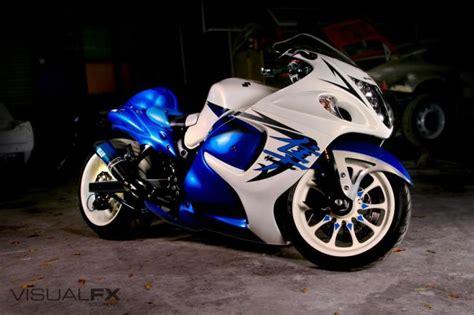 White Suzuki Hayabusa Blue White Suzuki Hayabusa Http Www Pashnitbusa