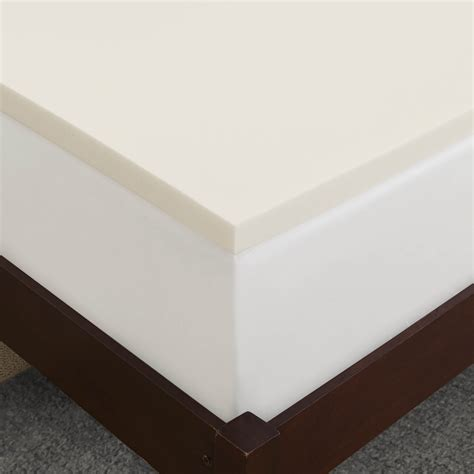 memory foam topper sleep innovations 2 inch suretemp memory foam topper with fitted cover 10 year