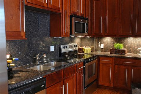 black stainless appliances with cherry cabinets cherry wood cabinets with stainless steel appliances