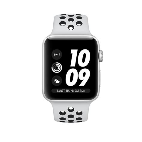 Apple Series 3 Gps Nike 42 Mm Silver Black Grs Resmi Apple apple series 3 nike gps 42mm silver aluminium