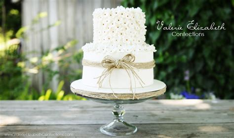 how to make a two tier wedding cake two tier wedding cake with twine flickr photo