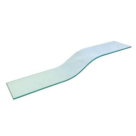 home depot glass shelves vincenza curvo 8 in x 40 in opaque glass shelf with 2 pelican brackets vcurvo840opkit the