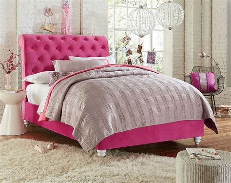 pink twin bed bright pink bed with white legs nailhead trim gabby