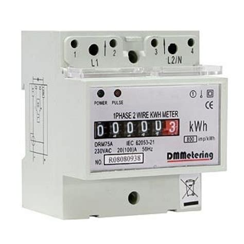 75 to meters dm metering drm 75a 20 100a single phase electricity meter