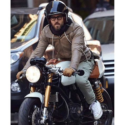 leather bike biker ryan reynolds brown leather jacket prostarjackets