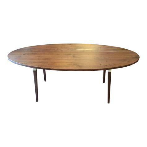 new the tree custom black walnut oval dining table