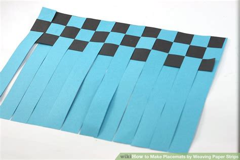 How To Make A Out Of Paper Strips - 3 ways to make placemats by weaving paper strips wikihow