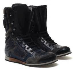 high top boots lanvin leather and suede high top biker boot sneakers