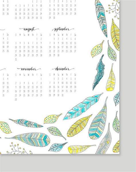 design world editorial calendar printable feather calendar 2014 calendar 11x17 by