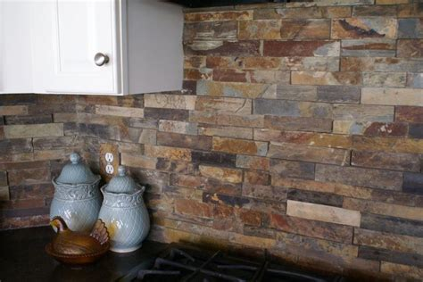 stacked slate backsplash tile search houses