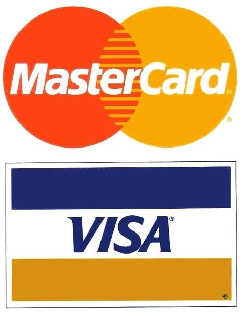 Visa Gift Card Purchase History - visa mastercard 2 pack small credit card logo decal sticker display signage ebay