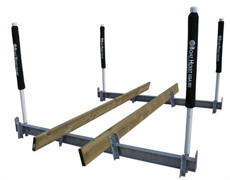 boathouse bumpers two motor cradle kit for wood mounting boat lift warehouse