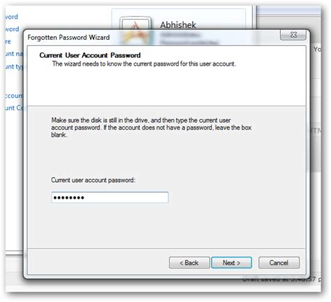 microsoft vista reset password disk how to create a password reset disk in windows 7