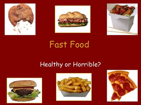 Hs Fast Food Power Point Fast Food Ppt Slides