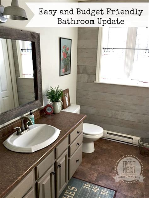 how to update a bathroom budget friendly bathroom update