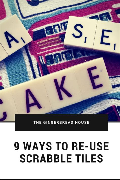 can you use re in scrabble 9 ways to re use scrabble tiles the gingerbread house co uk