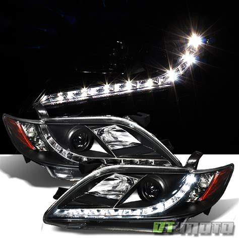 toyota camry 2009 headlights black 2007 2009 camry projector headlights daytime drl
