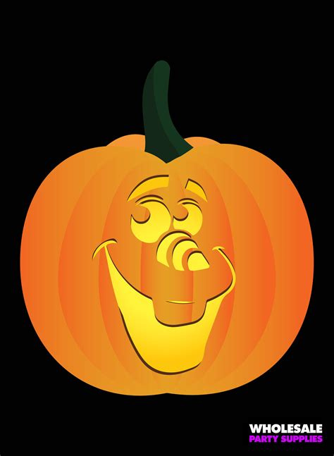 printable olaf pumpkin disney pumpkin stencils party ideas activities by