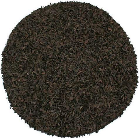 leather shag rug pelle collection leather shag rug 6 x 6 11 color options ld60r ebay