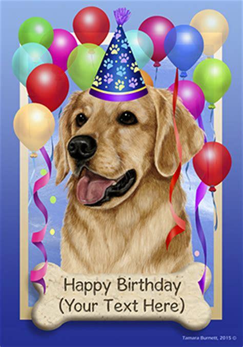 golden retriever birthday pictures golden retriever happy birthday flag by tamara burnett furrypartners