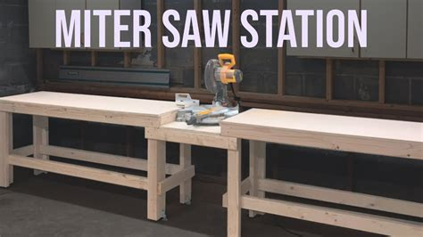 quick  easy miter  station workbench woodworking