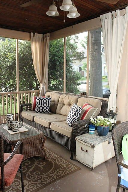 screened in porch curtains picture of comfy and relaxing screened patio design ideas