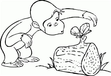 Kids Page Curious George Camping Colouring Coloring Pages