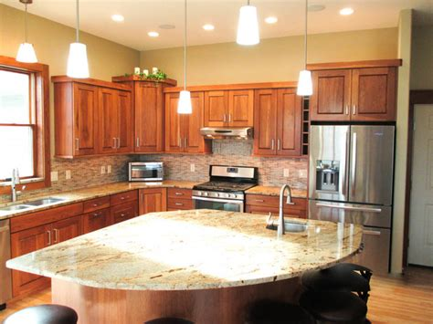 cabinet appliances with brown stained wooden hickory calico hickory cabinets w brown sugar stain and golden