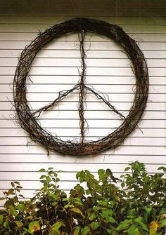 24 inch grapevine peace sign wreath by tropshop on etsy