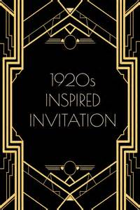 use this 1920s inspired invitation template for a gatsby