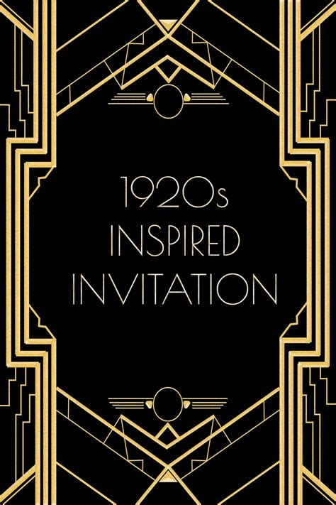 gatsby invitations templates use this 1920s inspired invitation template for a gatsby