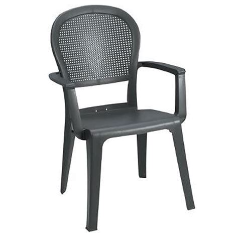 Grosfillex 16ea Seville Stack Outdoor Patio Highback Armchairs