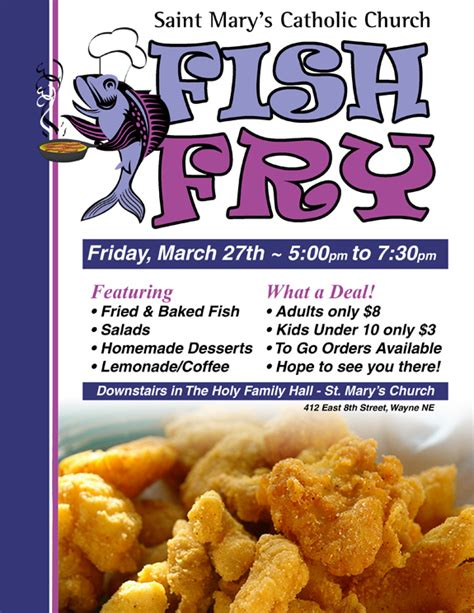 Fish Fry Flyer Template And Chicken Downl With Benefit Flyer Templates Free Printable Attendance Free Fish Fry Flyer Template