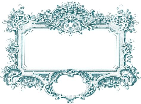 baroque pattern frame gorgeous baroque frame images the graphics fairy