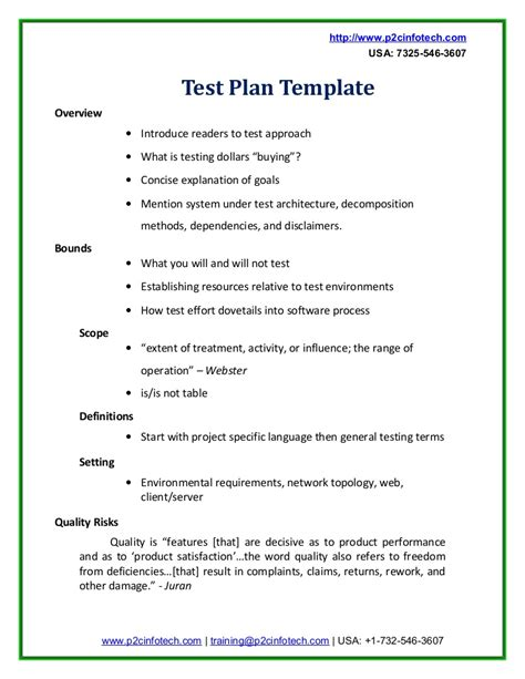 usability test plan template sle test plan doc