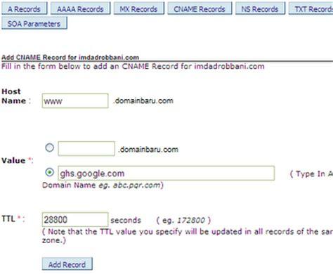 cara konfigurasi dns server domain dan subdomain mengganti blogspot dengan domain sendiri blog ghifari