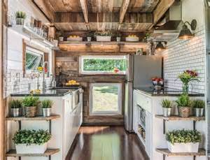 Tiny Home Kitchen Design Luxurious Alpha Tiny House Opens Wide On Both Sides To Let