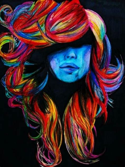 acrylic paint hair dye colorful hair painting gunna do something like this