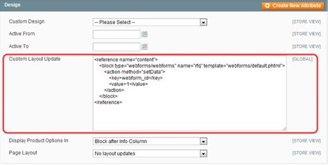 Magento Custom Layout Update Exles | webforms rfq