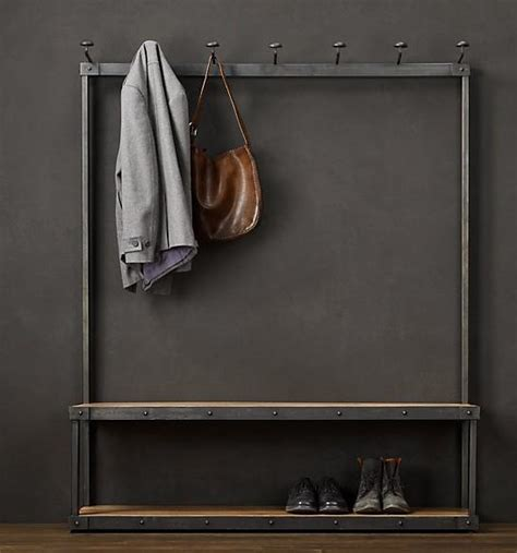 Coat Hook Shoe Rack by Iron Pipes Do The Shoe Vintage Clothing Display Hanger