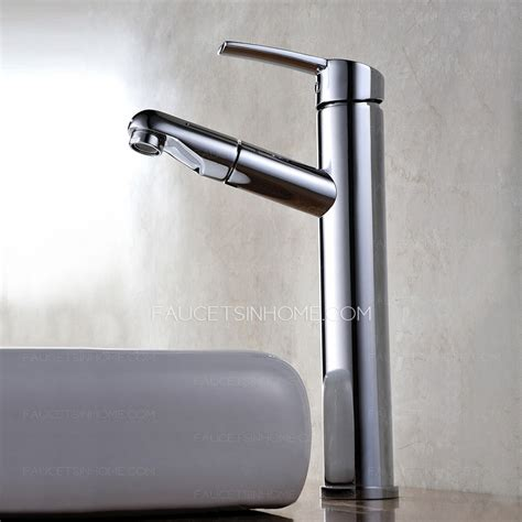cheap vessel mount pullout bathroom sink faucet