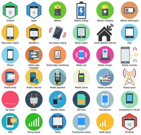 smartphone visio stencil interactive voice response diagrams solution conceptdraw