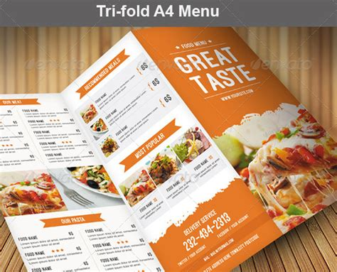 food menu pack speisekarte flyer und visitenkarte