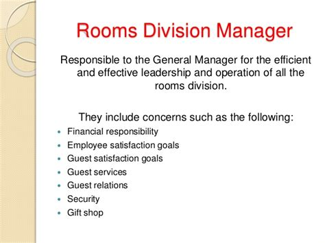 what is room division management in hotel introduction of rooms division front office and housekeeping departme