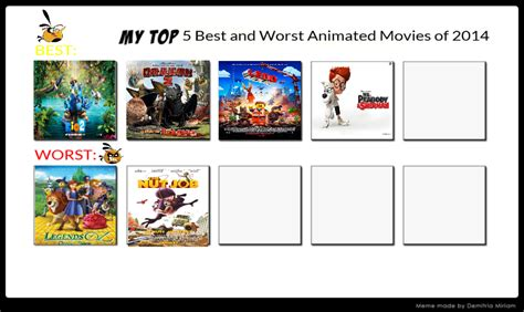 list best 2014 top 5 best and worst animated of 2014 by