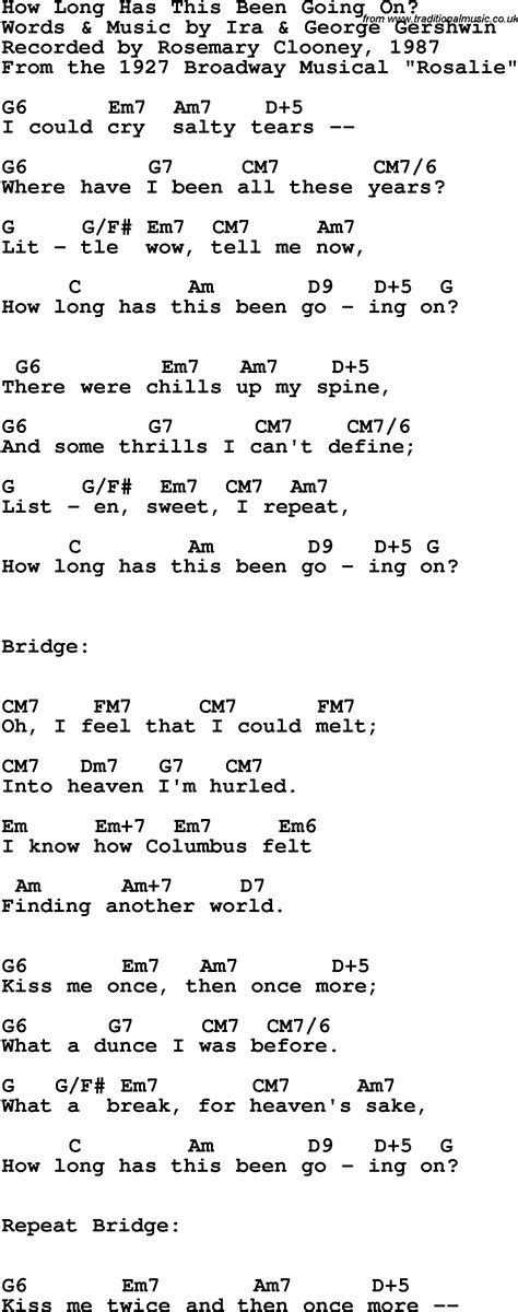 how long lyrics song lyrics with guitar chords for how long has this been