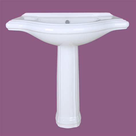 Wide Pedestal Sink Large Pedestal Sink Bathroom Console 8 Quot Widespread 34 Quot W