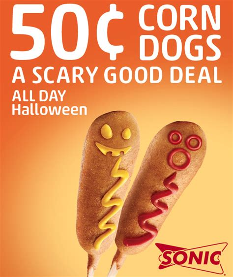 sonic corn day sonic deal 50 corn dogs all day october 31st only