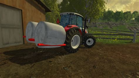 home made ls bale fork v 1 0 for fs 15 farming simulator